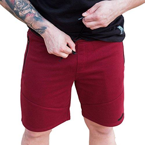PG Wear Shorts Athletic in Navy Maroon S-XXXL (3XL, Maroon)