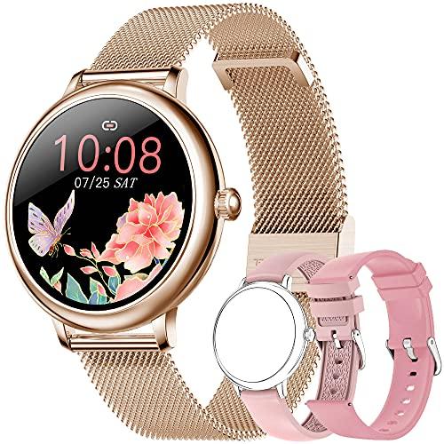 Reloj Inteligente Mujer, Smartwatch Impermeable 67, Monitor de Sueño y Caloría Pulsómetro, Notificaciones Inteligentes, 7 Modos de Deportes, Reloj Deportivo Mujer para Android iOS