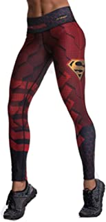 Drakon Super Heroes Inspired by Superman Leggings Women Activewear Crossfit Yoga Pants Compression Tights