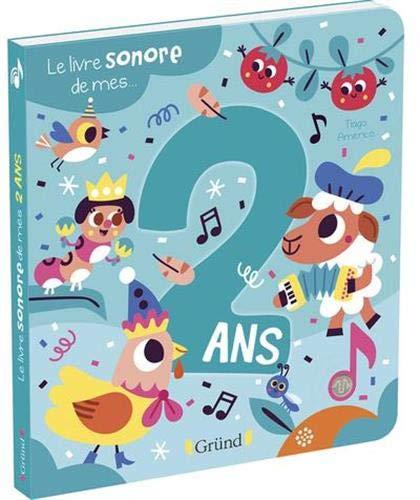 Le livre sonore de mes 2 ans – Livre sonore avec 6 puces – À partir de 2 ans