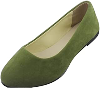 Dear Time Women Flat Shoes Comfortable Slip on Pointed Toe Ballet Flats ee3e5edb5c6a3