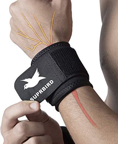 Suprbird 1 Paar Handgelenkbandagen mit verstellbarem Riemen zur Unterstützung und Stabilisierung beim Sport und Fitness