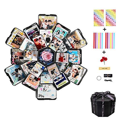 CHENYU Kreative Überraschung Box Explosions-Box DIY Geschenk Handgemachtes Scrapbook Faltendes Fotoalbum, Geschenkbox mit 6 Gesichtern, Geburtstag Muttertag Jahrestag Valentine Hochzeit