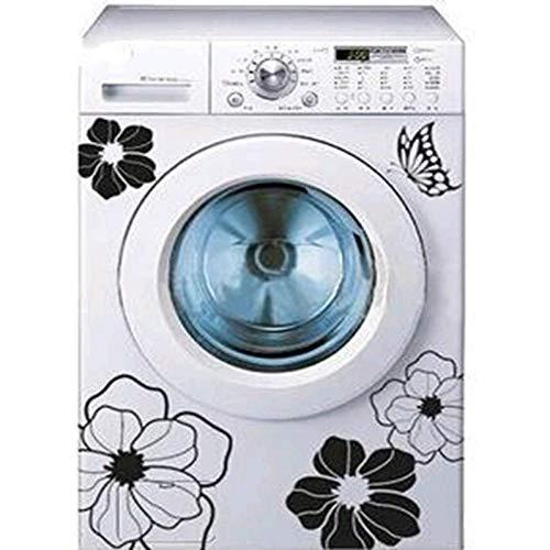 YiniKape Qualitäts-Haushalts-Waschmaschine Kühlschrank Aufkleber Blumen Schmetterlinge Wandaufkleber steuern Dekor für Küche Badezimmer