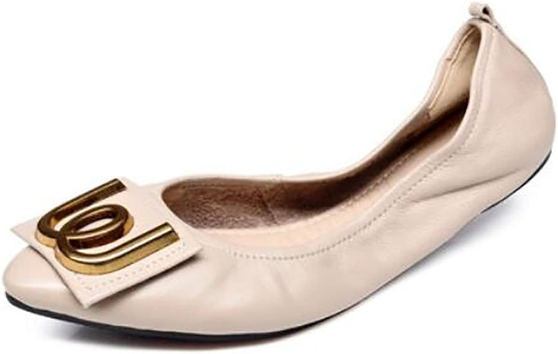 Women's shoes, Spring Summer shoes, Flat Pumps, Comfortable shoes for Pregnant Women (color   A, Size   37)