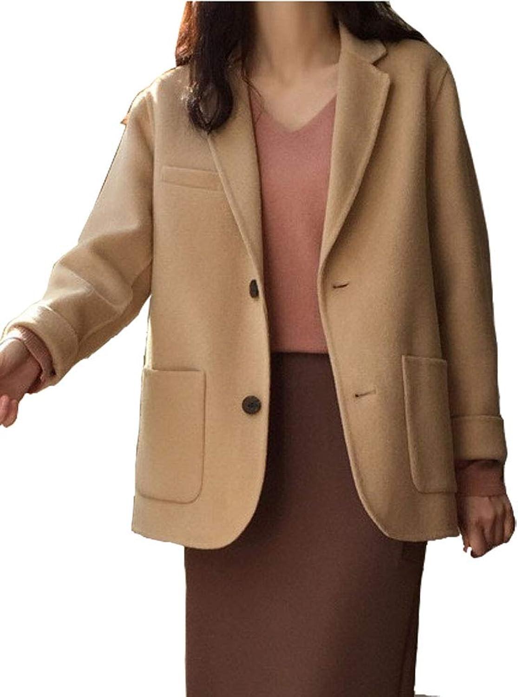 blueeField Women's Wool Trench Coat Winter Wool Jacket Large Free Size