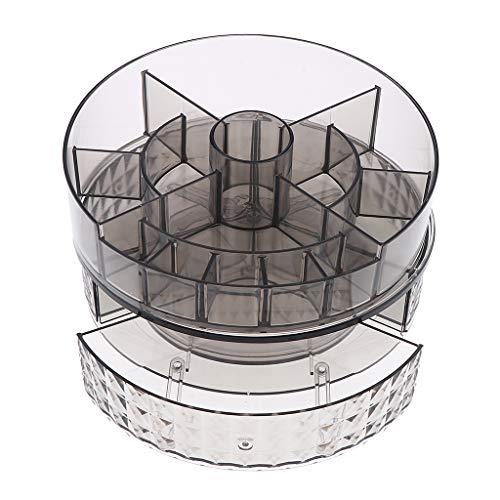 Fenteer Porte-Organiseur de Cosmétiques Tiroirs de Rangement pour Maquillage Rouge à Lèvres Support de Stockage Tournant à 360° - #2