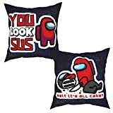 shenguang A-mong us Set of 2 Pillow Covers Breathability Decorative Cushion Cases Pillow Case for Sofa Couch Bedroom Car Spring Home Decor Square Pillowcase 16'x16'