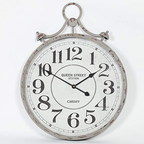 Reloj de bolsillo de metal vintage reloj de pared con frontal de cristal