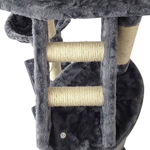 Grauer Katzenbaum – Kratzbaum aus Natursisal - 2