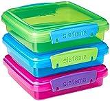 Sistema Caja para almuerzo (450 ml, 3 unidades, 1,55 x 15 x 12,4 cm)