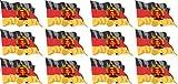 Mini Aufkleber Set - Pack wehend - 50x31mm - Sticker - DDR Flagge - Banner - Standarte fürs Auto, Büro, zu Hause und die Schule - 12 Stück