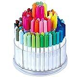 ChenYongPing Set de Pintura y Dibujo Pluma de la Acuarela niños Lavable Pintada del Color de la Pluma 100 de Color del Sistema de Cepillo Caja de Regalo de la Pluma para Artistas