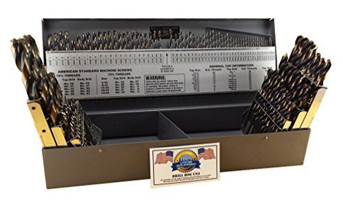 Drill Hog 115 Pc Drill Bit Set Letter Number Wire Gauge M7