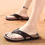 NFJ Reflexology Flip Flops Slippers Non-slip Flip Flops Beach Shoes Sandals Acupressure Massage Health Slippers For Men,Brown-40