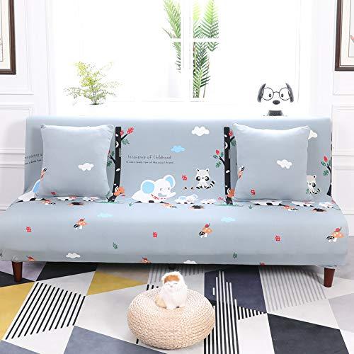 Estiramiento universal sin reposabrazos, sofá cama elefante feliz con todo incluido, longitud especial entre 150 ~ 185 cm,Fundas de sofá Funda para sofá elástica elástico Mascota Perro sofá Pantalla