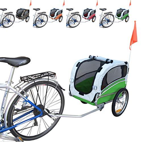 Papilioshop Snoopy Remolque de Bicicleta para el Transporte de Perros y Animales (Verde S)