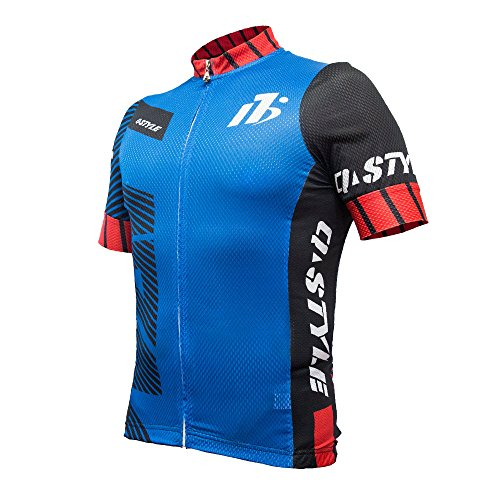 yuwell Hombre Maillot Ciclismo Mangas Cortas, Ropa Ciclismo, Camiseta de Ciclistas, Ciclismo Manga Jersey