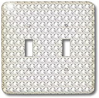 3dRose lsp_24649_2 Clear Diamond Rhinestone Gem Print Toggle Switch, Multi-Color