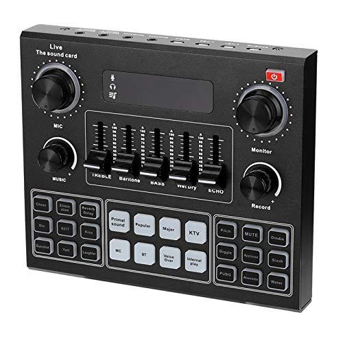 TenYua V9 Tarjeta de Sonido de Audio 3.5mm Micrófono Auriculares Live Broadcast Studio Teléfono Ordenador Bluetooth Adaptador de Sonido para Teléfono Ordenador