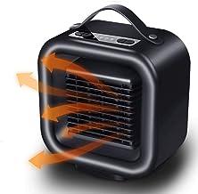 KELEQI Mini Portátil Calentador De Espacios, 2 Configuraciones De Temperatura (650W/1000W),PTC De Cerámica Personal Calentador,Calefactor Aire Frio Y Caliente,para El Hogar Oficina