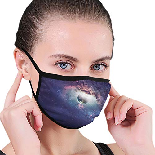 Funny Mouth Cover Dustproof Washable Reusable Space Showing The Beauty Of Universe Scene Protective Safety Warm Windproof for Women Men