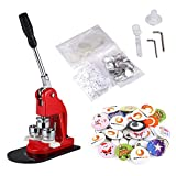 BEAMNOVA Button Badge Maker Machine 1-1/4 inch with 1000 Button Parts and Circle Cutter