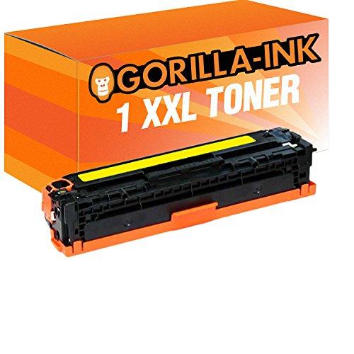 Gorilla-Ink Toner XXL compatibel voor HP CE320A CE321A CE322A CE323A 128A (09) 1 Toner Yellow