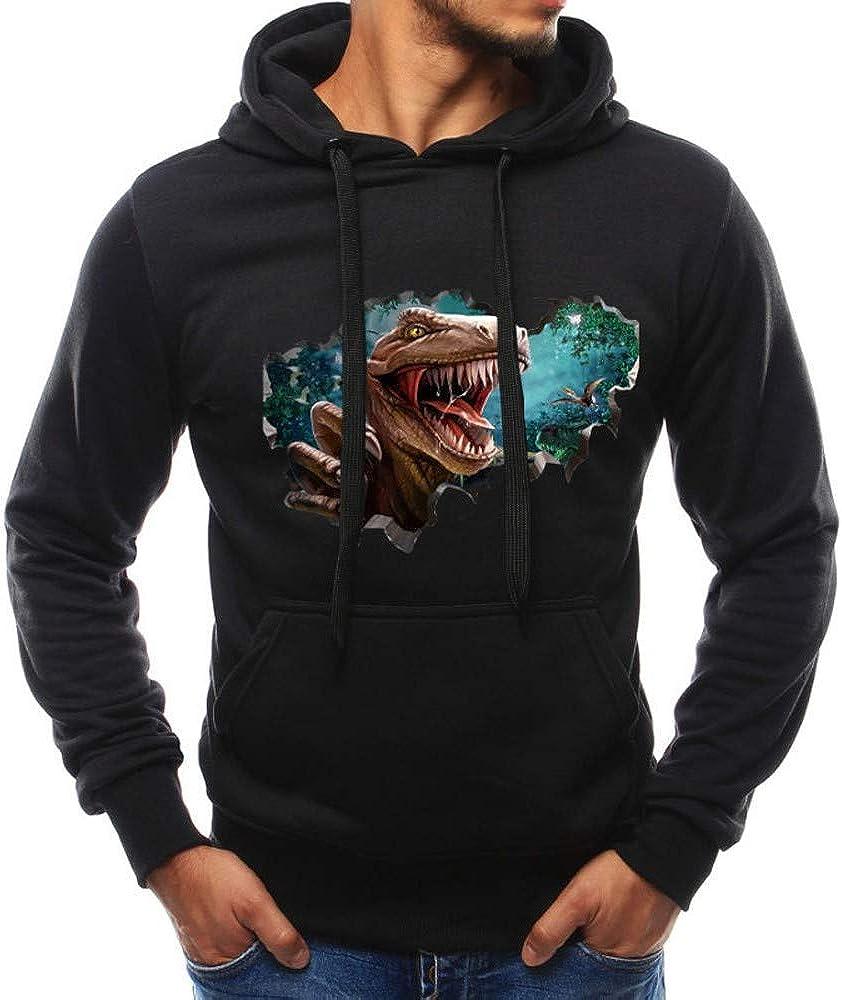 MODOQO Men's Pullover Hoodies Long Sleeve Baggy Casual Print Warm Lightweight Sweatshirt