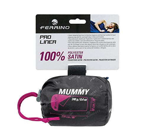 Ferrino Pro Liner Schlafsack-Inlet, Bettlaken für Mumienschlafsack, Blau