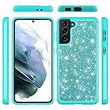 Funda para Xiaomi Mi 11, a prueba de golpes de doble capa Bling Glitter Soft TPU Bumper Phone Case con Kickstand Ultra Slim Fit Funda protectora Skin para Xiaomi Mi 11 Verde