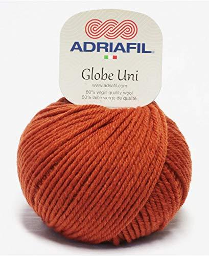 Adriafil - Pelote de laine à tricoter GLOBE UNI - Adriafil - Orange 43