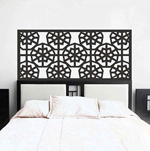 Shabby Chic Star Copo de nieve abstracto cabecero tatuajes de pared cama decoración del dormitorio geométrica pegatinas de pared dormitorio decoración del hogar 58x115cm