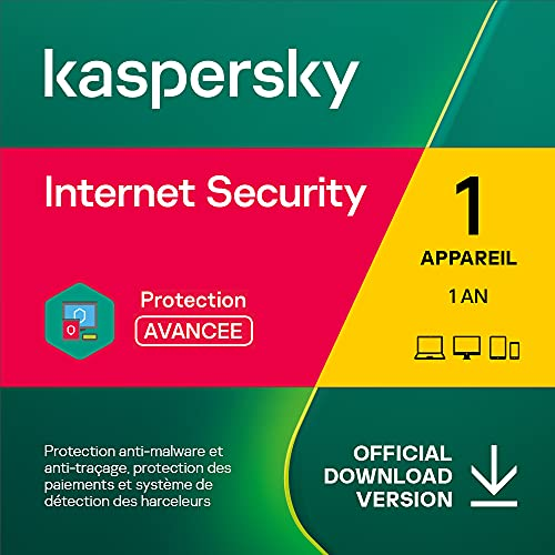 Kaspersky Internet Security 2021 | 1 Appareil | 1 An | Windows/Mac/Android | Code d'activation – Envoi par Email