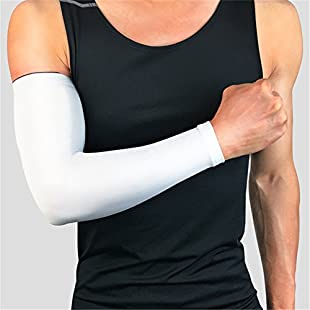 Gaeruite 1 Pair Arm Sleeves, Support Sleeves, Basketball Barcer Long Style Exercise Cycling Hand Sunscreen Arm Elbow Warmers Men Women Non-slip Thin Protector Leg Protect Cuffs, Arm Cooling Sleeves:Greatestmixtapes