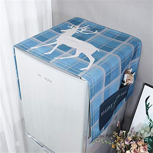 Zhangmeiren Lavadora Cubierta De Polvo Refrigerador Refrigerador Cubierta De Polvo De Algodón Cubierta De Tela Cubierta Impermeable Toallas De Tela De Polvo Microondas (Color : G, Size : S)