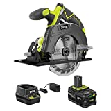 RYOBI P505SBN 18-Volt ONE+ Cordless 5-1/2 in. Circular Saw with (1) 4.0 Ah Lithium-Ion Battery and 18-Volt Charger