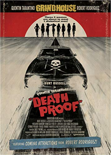 empty Death Proof Movie Cover Fine Art Wall Poster Sticker Frameless 60cm X 90cm(24X36 Inch)