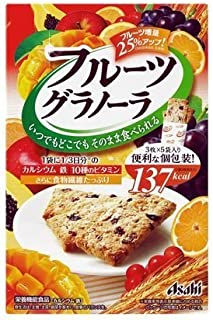 Asahi Balance Up Fruit Cookie, Granola Bar Cereal, 150 g