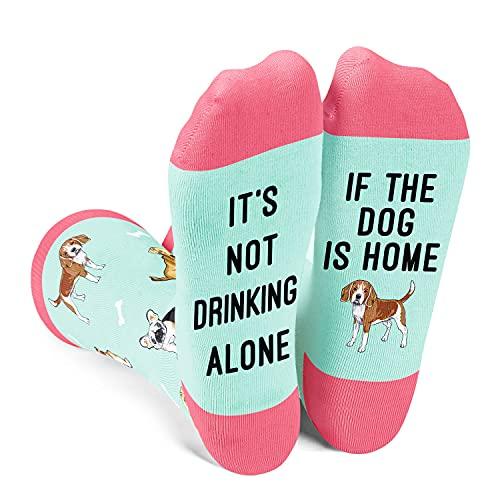 ZMART Novelty Crazy Dog Gifts Dog Mom Gifts Dog Socks, Gifts for Dog Lovers Socks for Women Funny