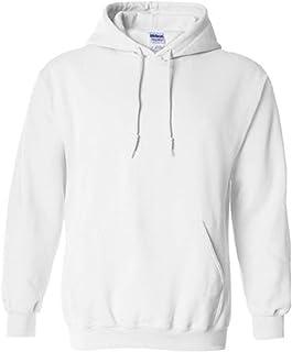 Gildan White Hoodie Heavy Blend Blank Plain Hooded Sweat Sweater Men's XS - XXL