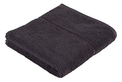 frottana Pearl Handtuch 50 x 100 cm aus 100% Baumwolle, graphite