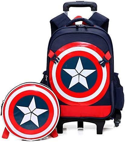Spiderman Captain America Six Wheels Trolley School Bags backpack Oxford cloth vacation travel product image