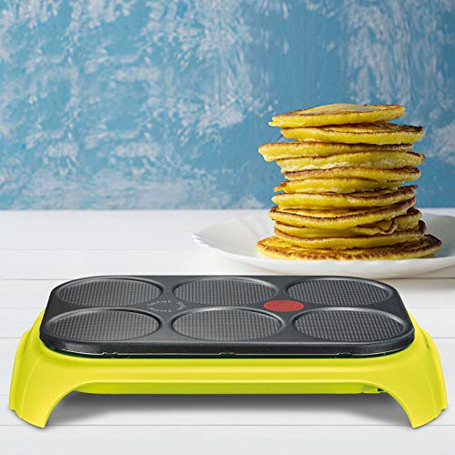 Tefal PY559312 - Piastra per crêpes Colormania Party, colore: verde cactus