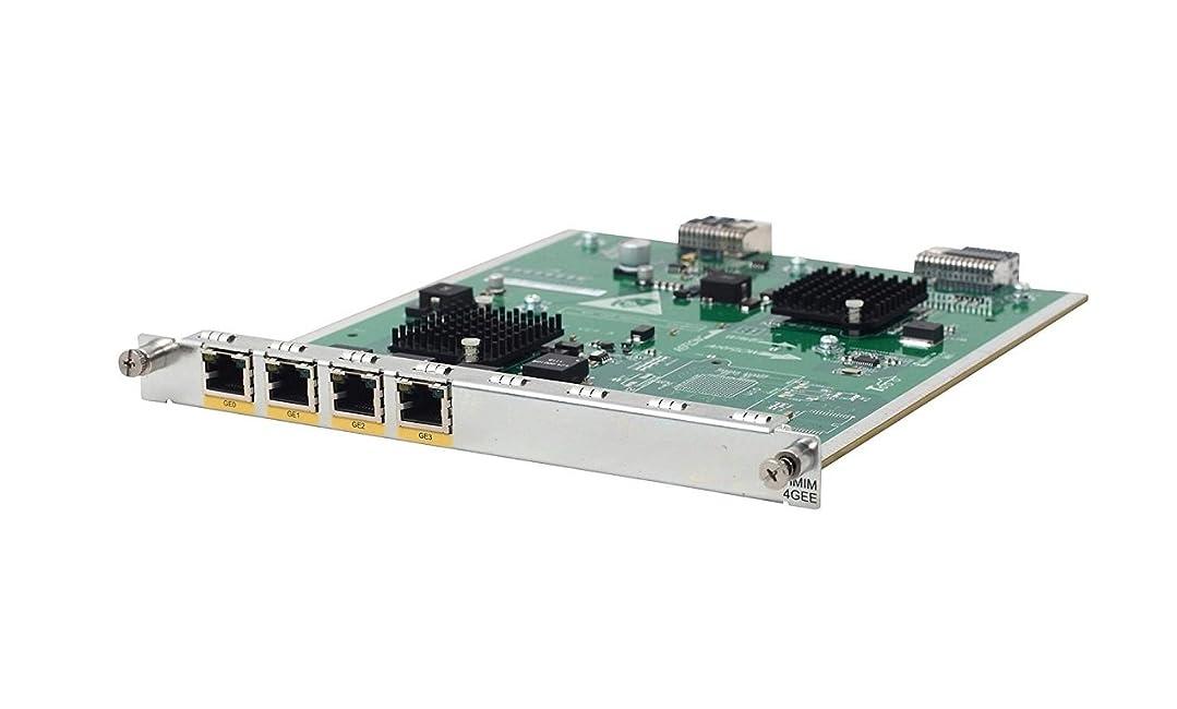 司教クロール地平線HP jg421?a MSR 4?- port gig-t hMim Module (hmim-4gee)?–?ハイパフォーマンス多機能インターフェイスモジュール(hMim) with 10を提供する4つRJ - 45コネクタ