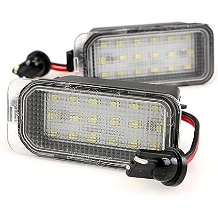 Tuincyn Kennzeichenbeleuchtung Schwarz Objektivgehäuse Kompatibel Mit Ford F150 F250 F350 F450 F550 Auto