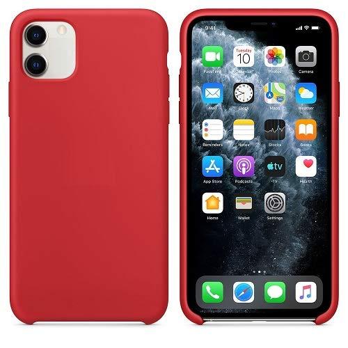 CABLEPELADO Funda Silicona iPhone 11 Textura Suave (Rojo)