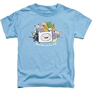 Adventure Time Little Boys  Mathematical Childrens T-Shirt 3T Carolina Blue