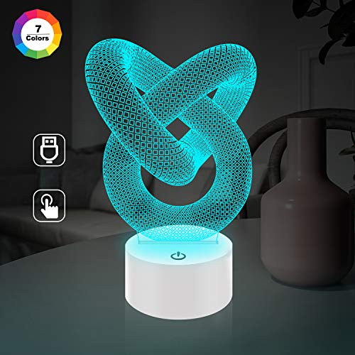 Optical Illusion 3D Love Knot – Liebesknoten Lampe
