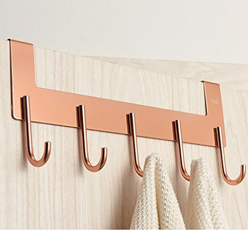 Kleiderhaken Haken hinter der Tür Aluminium Haken Nahtlose Ideen kreative Nagel - freie Racks mit Haken Haken Kleiderhaken verbunden Bekleidungsregale (Farbe : A)